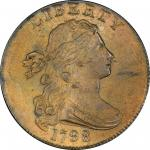 1798 Draped Bust Cent. Sheldon-179. Rarity-3. Style II Hair. MS-65+ BN (PCGS). CAC.