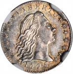 1795 Flowing Hair Half Dime. LM-10. Rarity-3. MS-61 (NGC).