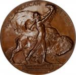 1901 Pan-American Exposition Award Medal. Bronze. 63.6 mm. By Hermon A. MacNeil. Awarded to the Scho