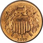1870 Two-Cent Piece. MS-64 RD (PCGS). CAC.