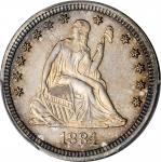 1884 Liberty Seated Quarter. Proof-67+ (PCGS).