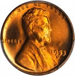 1953-D Lincoln Cent. MS-67 RD (PCGS).