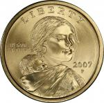 2007-P Sacagawea Dollar. Satin Finish. Specimen-69 (PCGS).