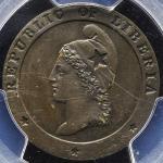 LIBERIA リベリア Cent 1862 PCGS-PR63BN Proof