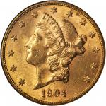 1904-S Liberty Head Double Eagle. MS-61 (NGC).