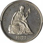 1877 Twenty-Cent Piece. Proof-61 (PCGS).
