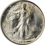 1937-D Walking Liberty Half Dollar. MS-64 (PCGS). OGH.