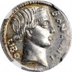 L. SCRBONIUS LIBO. AR Denarius (3.93 gms), Rome Mint, 62 B.C.NGC MS, Strike: 4/5 Surface: 4/5.