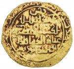 AMIR OF WAKHSH: Abu Bakr Qaratuz, 1200-1212, AV dinar (3.77g), Wakhsh, AH602, A-B1754, clear date in
