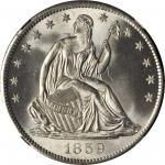 1859-S Liberty Seated Half Dollar. WB-6. Rarity-3. Medium S. MS-64+ (NGC).