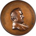 1857 James Buchanan Indian Peace Medal. First Size. Bronzed Copper. 76 mm. Julian IP-36. Mint State.