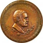 1871 Ulysses S. Grant Indian Peace Medal. Bronzed Copper. 64 mm. Julian IP-42. About Uncirculated.