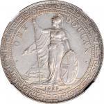 1929-B年英国贸易银元站洋壹圆银币。孟买铸币厂。 GREAT BRITAIN. Trade Dollar, 1929-B. Bombay Mint. NGC MS-62.