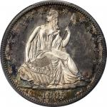 1865 Liberty Seated Half Dollar. Proof-66 Cameo (PCGS). CAC.