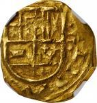 COLOMBIA. Cob 2 Escudos, ND (1621-65). Bogota Mint. Philip IV. NGC AU-55.