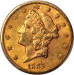 1885-CC Liberty Head Double Eagle. AU-58 (PCGS). CAC.