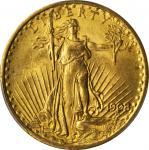 1908 Saint-Gaudens Double Eagle. No Motto. MS-64 (PCGS).