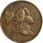 1794 Liberty Cap Cent. S-48. Rarity-5. Starred Reverse. VF-30 (PCGS).