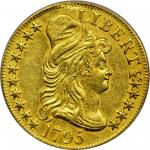 1795 Capped Bust Right Half Eagle. Small Eagle. BD-3. Rarity-3+. Genuine--Damage (PCGS).