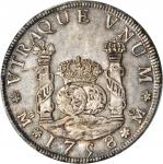 1758-Mo墨西哥双柱银币 PCGS MS 62