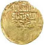 GREAT MONGOLS: temp. Chingiz Khan, 1206-1227, AV dinar (3.57g) (Balkh), DM, A-W3705, short kalima di