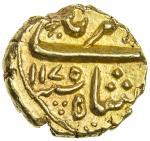 MUGHAL: Alamgir II, 1754-1759, AV pagoda 403。32g41, Imtiyazgarh, AH1175, KM-E440。1, posthumous issue