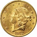 1872-S Liberty Head Double Eagle. MS-61 (PCGS). CAC.