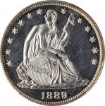 1889 Liberty Seated Half Dollar. Proof-64 Cameo (PCGS).