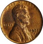 1925-S Lincoln Cent. MS-64 RD (PCGS).