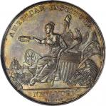 1847 American Institute Medal, New York. Silver. 51 mm. By Robert Lovett. Julian AM-3, Harkness Ny-5