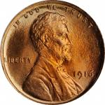 1916 Lincoln Cent. MS-67 RD (PCGS).