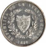 COLOMBIA. 1849 pattern 8 Reales. Bogotá mint. Restrepo P62. Silver. SP-63 (PCGS).