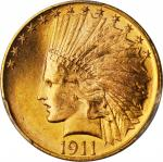 1911 Indian Eagle. MS-64+ (PCGS).