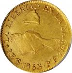 MEXICO. 8 Escudos, 1853-Go PF. Guanajuato Mint. PCGS AU-53 Gold Shield.