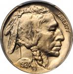 1924 Buffalo Nickel. MS-66+ (PCGS).