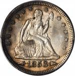 1853 Liberty Seated Quarter. Arrows and Rays. MS-64+ (PCGS).