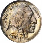 1937-D Buffalo Nickel. FS-901. 3-Legged. MS-64 (NGC).