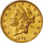 1891-CC Liberty Head Double Eagle. EF-45 (PCGS).