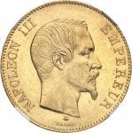 FRANCE Second Empire / Napoléon III (1852-1870). 100 francs tête nue 1859, BB, Strasbourg.