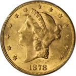 1878 Liberty Head Double Eagle. MS-60 (PCGS).