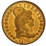 1797/5 Capped Bust Right Half Eagle. Bass Dannreuther-7. Rarity-6+. Heraldic Eagle. Mint State-62+ (