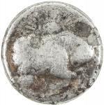 India - Mughal Empire. MUGHAL: Jahangir, 1605-1628, AE zodiac rupee, Ahmadabad, AH1027 year 13, KM-1