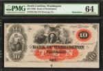 Lot of (3) Washington, North Carolina. Bank of Washington. 1860s. $5 & $10. PMG Choice Uncirculated