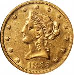 1855-S Liberty Head Eagle. EF-45 (NGC).