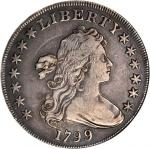 1799 Draped Bust Silver Dollar. BB-167, B-14. Rarity-3. EF-40 Details--Damaged (ANACS). OH.
