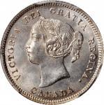CANADA. 5 Cents, 1890-H. Heaton Mint. Victoria. PCGS MS-65+ Gold Shield.