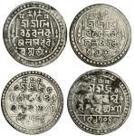 Jaintiapur, Jatra Narayan (1782-85), Tankas (2), 10.69, 10.75g, Sk. 1704, Śri Śri Śi/