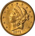1871-S Liberty Head Double Eagle. MS-60 (PCGS).