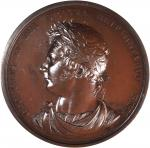 1821 George IV Coronation Medal. Bronzed Copper. 69.3 mm. By Rundell Bridge & Rundell. Jamieson-27,