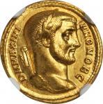 GALERIUS, A.D. 305-311. AV Aureus (5.28 gms), Rome Mint. NGC MS*, Strike: 5/5 Surface: 5/5. Fine Sty